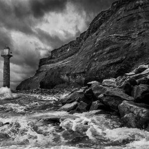 Stormy Shoreline by Jared Hull Highly Commended in Mono section