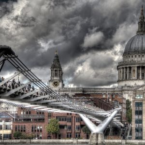 The Milennium Bridge and St Paul's Cathedral by Lesley Davidson Score: 19