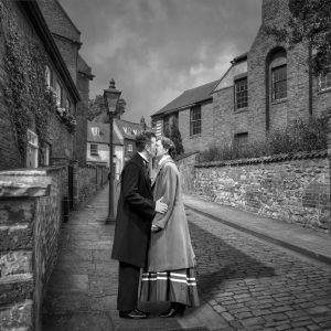 Just a Little Kiss by Gerry Gentry Commended in Mono Prints