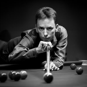 Ken Doherty by Chris Harrison Scored: 20 HC Monochrome DPI