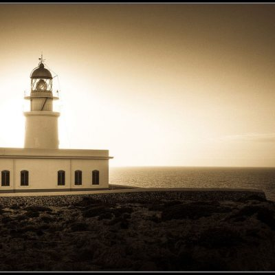 The Lighthouse by Andrew Shepherd LRPS Winner of the Digital Image Monochrome Category