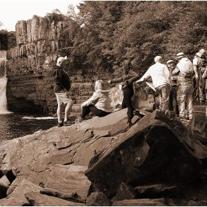 Tourists at High Force by John Riley, scored 10