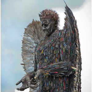 The Knife Angel - British Ironworks by Mike Aspinall, scored 12