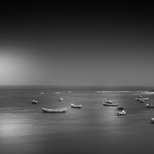 Fishing Boats on the Beach by Bobby Loomba, Open Monochrome Digital, 12, Commended