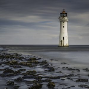 Incoming tide - Perch Rock by Alan Kemp. Landscape Print, Very Highly Commended