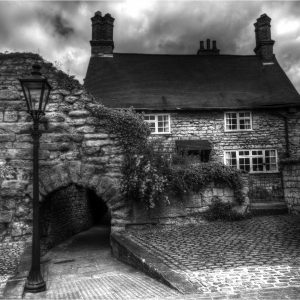 Lincoln Cottage by Lesley Davidson, Monochrome Print, Highly Commended