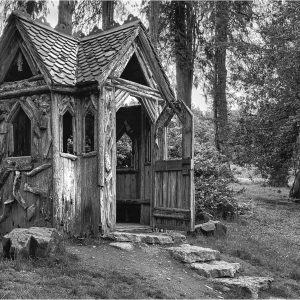 Summer House, Lowther Castle by Lesley Davidson, Monochrome Print, Commended