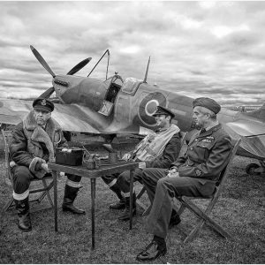 Three of the Few ny Mike Aspinall, Open Monochrome Digital, 12, Commended