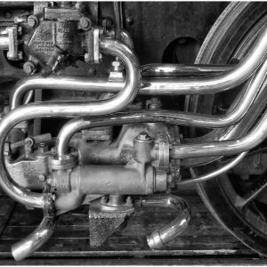 Detail from steam engine, NRM by John Chappell, scored 15