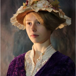 Phoebe as a Victorian Miss by John Riley, Portrait, VHC