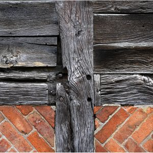 Construction Detail of 16th Century Cruck Barn by John Riley, Record, C