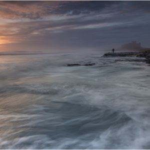 Lone Photographer, Bamburgh Sunrise by John Chappell, Landscape, VHC