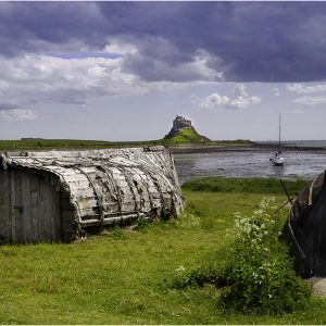 Boat Sheds at Lindisfarne by Gordon Armstrong, 17