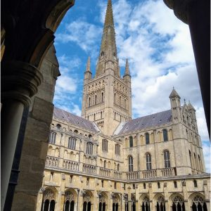 Norwich Cathedral From the Cloisters by Lynn Godsell, 14